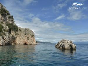 Traumhafte Landschaft vor der Insel CRES