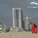 Skyline von Miami Beach am Strand